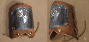 Medieval knight wristband by Spiked-Fox