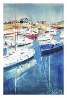 Courtown Boats by katekos-art