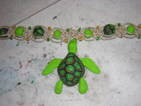 Sea Turtle Necklace by DoreneIncredible