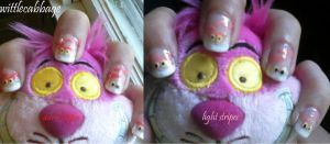 Cheshire Cat nails by wittlecabbage