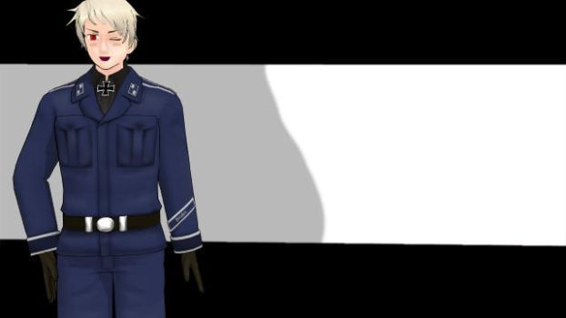 [MMD] I finally got a Prussia model! :3 by FluttershyWarrior123