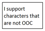 I Support Characters That Are Not OOC Stamp by SmoothCriminalGirl16