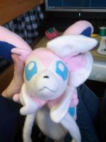 Sylveon Plush Loves you by Vulpes-Canis