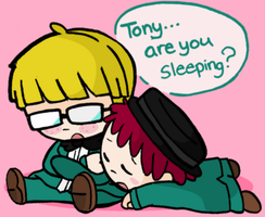 Tony and jeff sleepy by flapjackfan4444