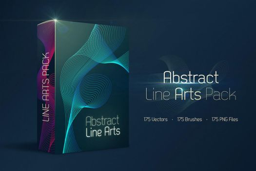 175 Free Abstract Line Arts Pack by Shemul