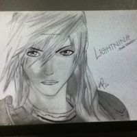 FF Lightning Drawing by KimikoRei07