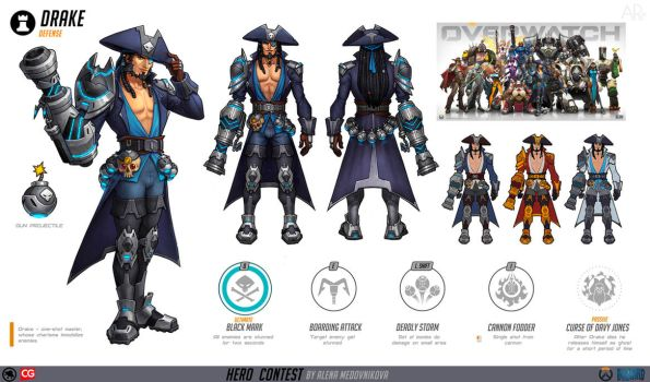 Drake for Overwatch concept by Anhel1310