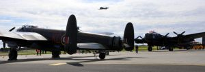 Dakota flypast with the two Lancasters by dark-angel-01
