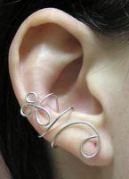 Silver Whirl Ear Cuff by lavadragon