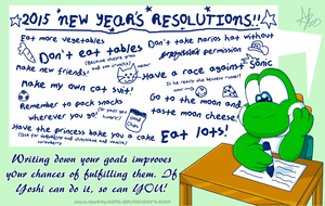 Yoshi's New Year's Resolutions by AwsmYoshi