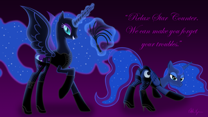 Commission: Nightmare Moon and Princess Luna by ViktorNewman