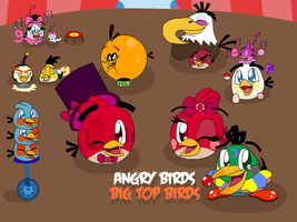 Angry Birds - Big Top Birds by RussellMimeLover2009