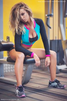 Kaysha Fitzgerald Fitness Shoot by AngelRiley