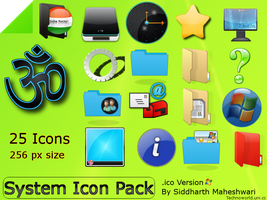 System Icon pack .ico version by SiddharthMaheshwari