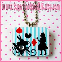Alice and The Rabbit Necklace by SugarAndSpiceDIY
