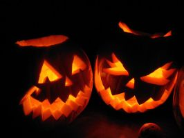 two Pumpkins for the contest: Capture your Pumpkin by calicocat123