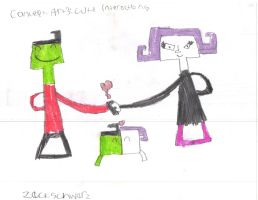 Concept Art 3: Zim and Gaz's Relationship by Zoomzamzim