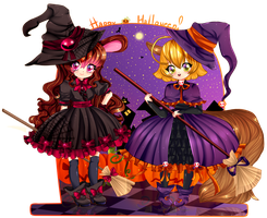 :C: Happy Halloween! by Purrinee
