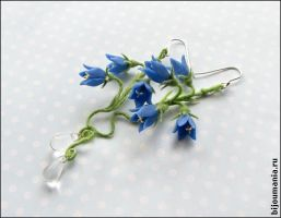 Earrings 'Blue Bells' by allim-lip