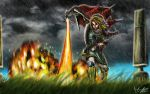 Link vs Argorok The Fight by marcosbaruco