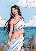 Siren Sketch Card - Classic Mythology II by ElainePerna