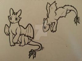 2 Pen Challenge_Needed a Toothless by Skitcy