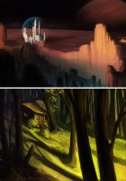 +doodles+ landscapes by Tench