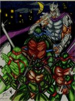 NINJA TURTLES COLORED by Mjones456