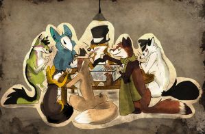 Poker Night Guys? by MadCheshireFox