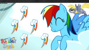 Rainbow Dash PS Vita Wallpaper [Redux 1.1] by likeaBrony