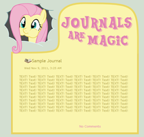 Journals Are Magic - Fluttershy by CassidyCreations