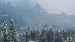 Hazy View to High Hrothgar by lupusmagus