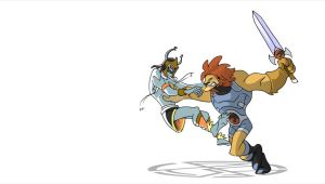 Timmytom: Lion-o vs Mumm-Ra by splendidriver