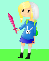 Fionna The Human in Chibi Style by nesynkoy