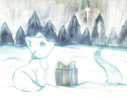 Christmas Snow Fox by Gezusfreek