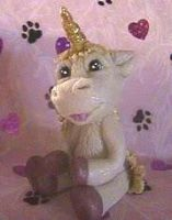 polymer clay unicorn unice by crazylittlecritters