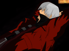Dante: drawing coloured by Mikoti