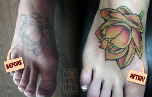 Lotus Flower by mrwestattoo