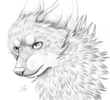 Traditional wolf by Ryuu-sai