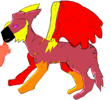 Fire Beast -coloured- by Eaglefoot