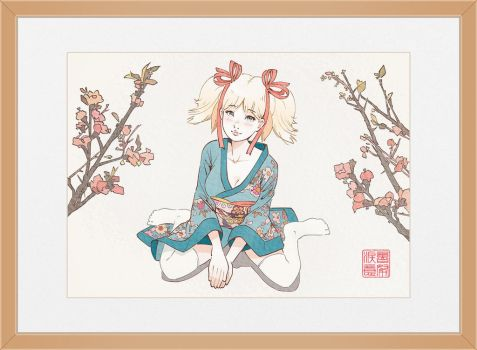 Apricot Blossom by Louistrations