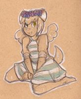 Sketch Comm Cupid by CritterKat