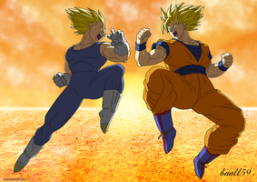 Goku Vs Vegeta by eddbz
