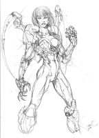 EVE comic book character by tdm-studios