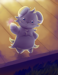 ...stay off my porch... (Espurr) by Mewscaper