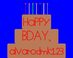 Happy B-day ''alvarobmk123'' by NicLove