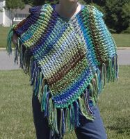 Mostly Blue Reversible Shawl by KarensKreationsToday