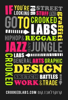 crookedlabs sticker typography by djehngo