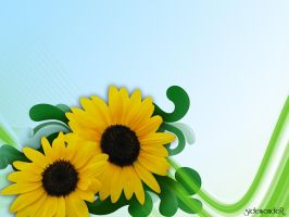 Sunflower Wallpaper by sidewonder