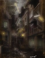 Gotham first Matte painting by AmandaRamsey